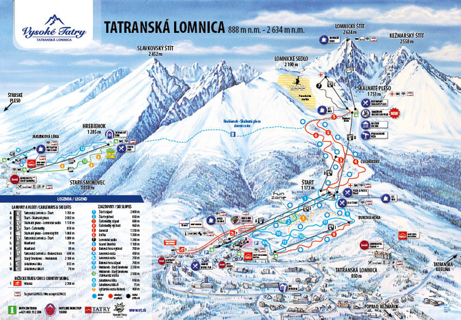 ski vt map with Ski Resort High Tatras Tatranska Lomnica on Gpsjay furthermore Hiking besides Some Of The Scariest Runs In North America in addition Viewmap furthermore Hunter Mountain New York Update.