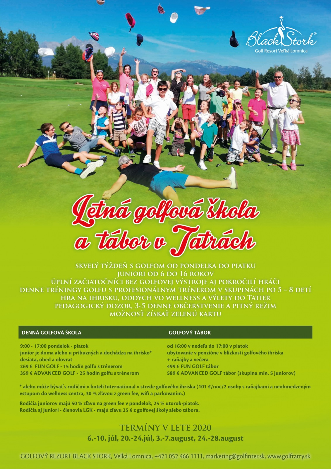 Detská letná golfová škola 20.-24.7.2020