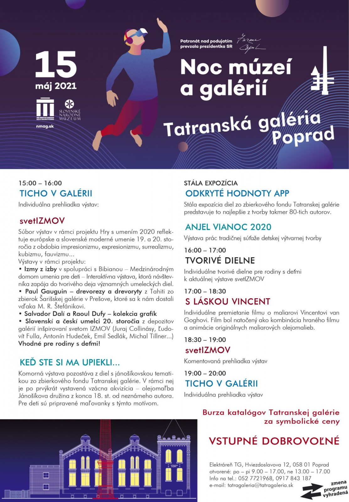 Noc múzeí a galérií v Tatranskej galérii