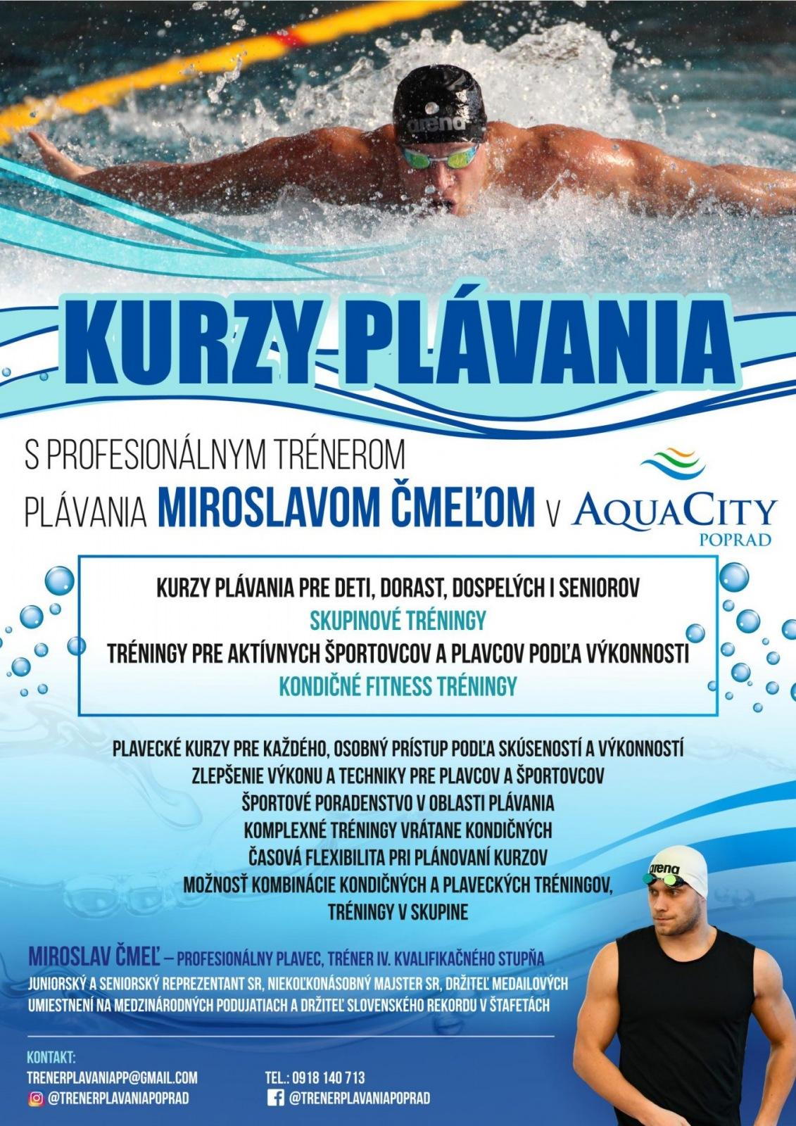 KURZY PLÁVANIA v AquaCity Poprad
