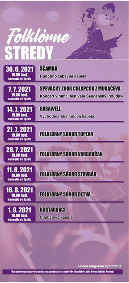 Popradské kultúrne leto & Folklórne stredy