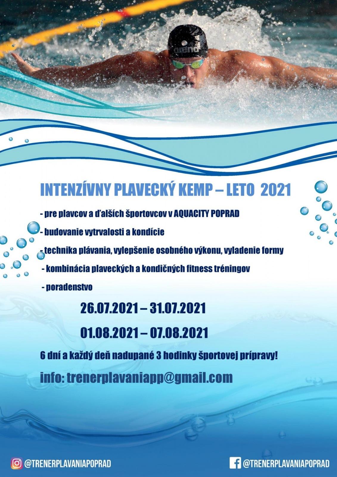 Intenzívny plavecký kemp & LETO 2021