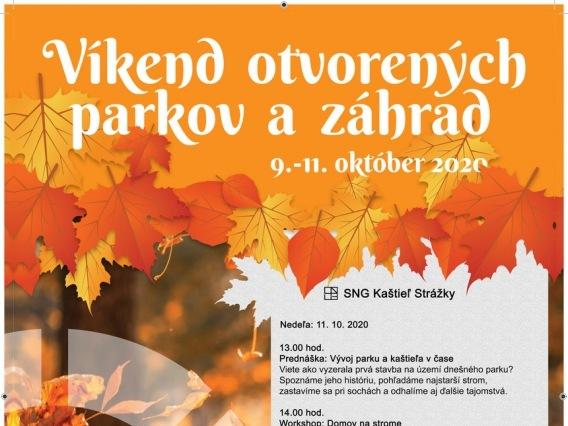 Víkend otvorených parkov a záhrad v parku Kaštieľa Strážky