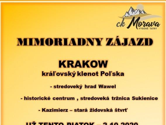 Výlet CK MORAVA & Krakov & Kráľovský klenot Poľska
