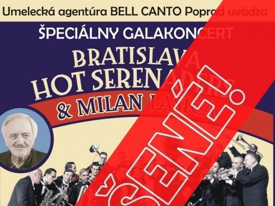 Špeciálny galakoncert Bratislava Hot Serenaders & Milan Lasica & ZRUŠENÉ