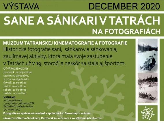 Sane a sánkari v Tatrách na fotografiách