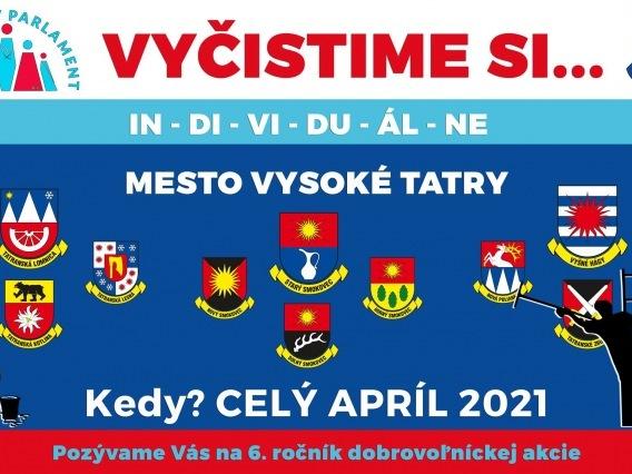 Vyčistime si mesto Vysoké Tatry 2021
