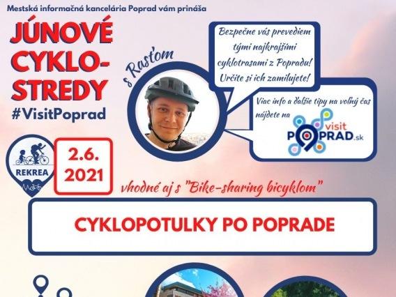 Júnová CYKLO-STREDA & Cyklopotulky po Poprade