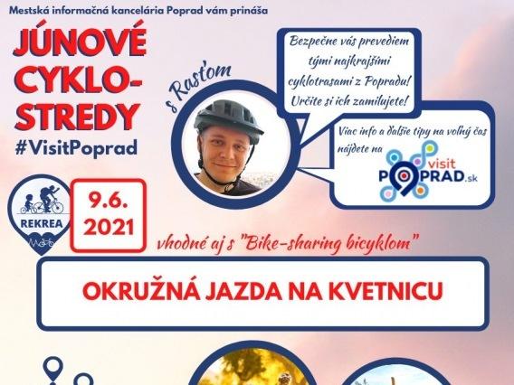 Júnová CYKLO-STREDA & Okružná jazda na Kvetnicu