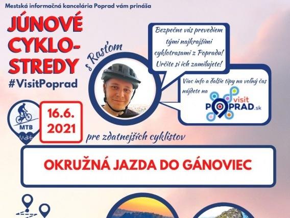 Júnová CYKLO-STREDA & Okružná jazda do Gánoviec