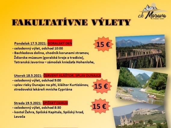 Fakultatívny výlet & ORAVSKÝ HRAD, PLAVBA LOĎOU