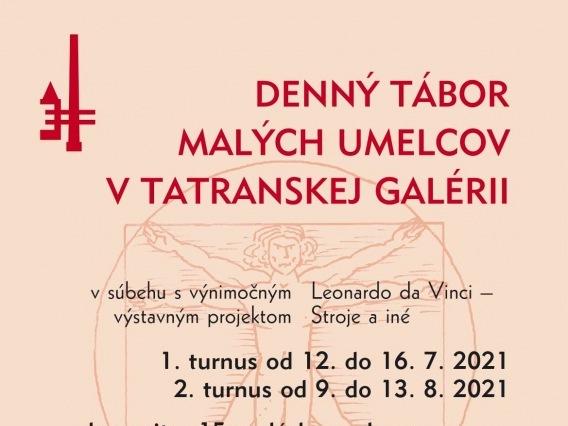 Denný tábor malých umelcov v Tatranskej galérii
