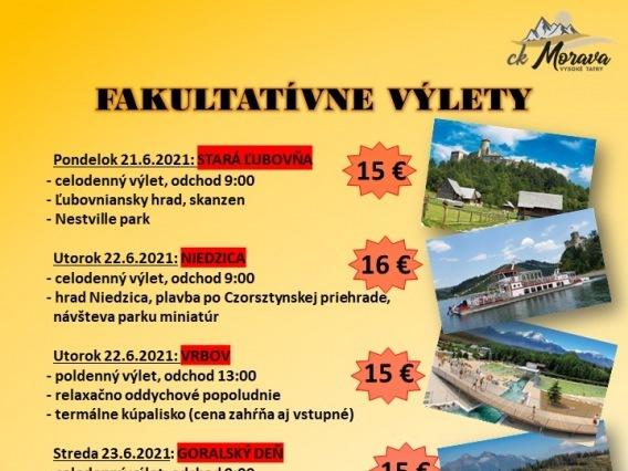 Fakultatívny výlet & ČERVENÝ KLÁŠTOR, SPLAV DUNAJCA
