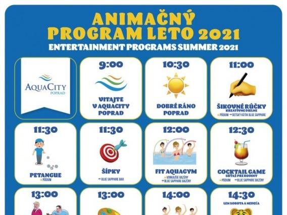 Animačné programy v Aquacity Poprad