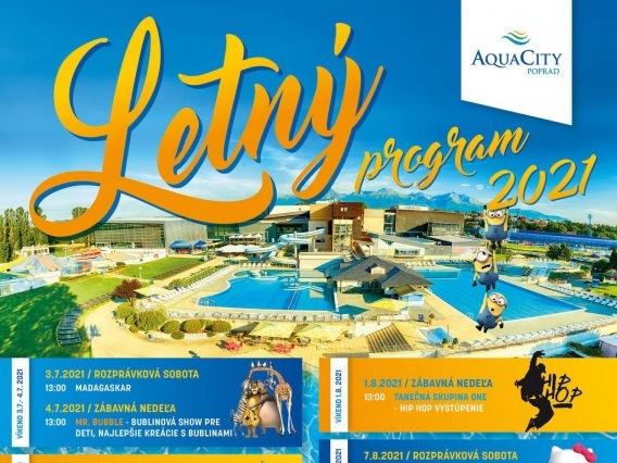 Letný víkendový program v Aquacity Poprad