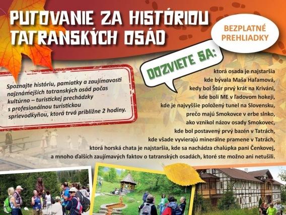 PUTOVANIE ZA HISTÓRIOU TATRANSKÝCH OSÁD & ŠTRBSKÉ PLESO
