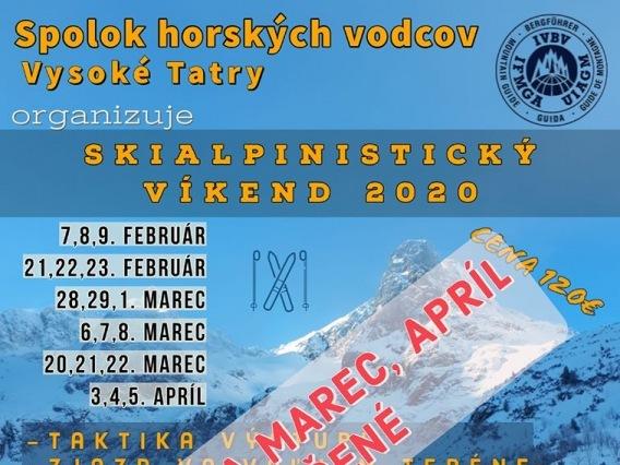 Skialpinistický víkend 2020 & ZRUŠENÉ !!!