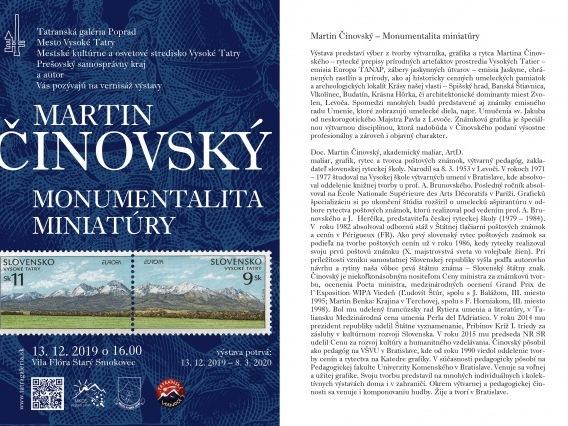 Martin Činovský & Monumentalita miniatúry