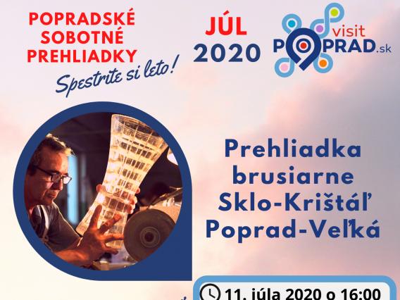 Prehliadka brusiarne Sklo-Krištáľ Poprad-Veľká